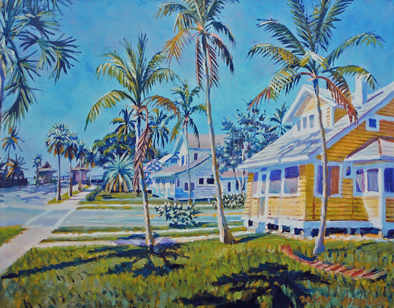 Cottages by the Pier giclee 16x20 36x48
