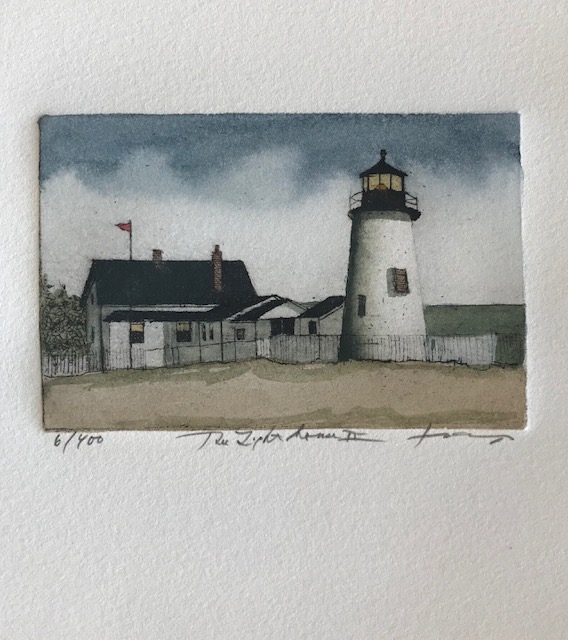 The Lighthouse II, 2 1/2 x 4