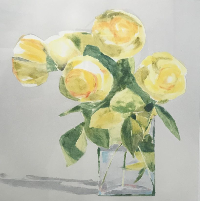 Yellow Roses, 29x33 framed